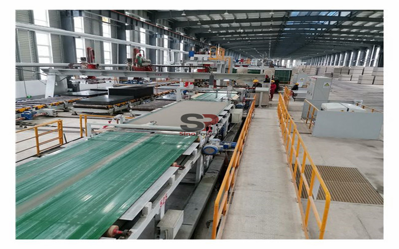 Study on the reuse of sanding powder in fiber cement board / calcium silicate board production line