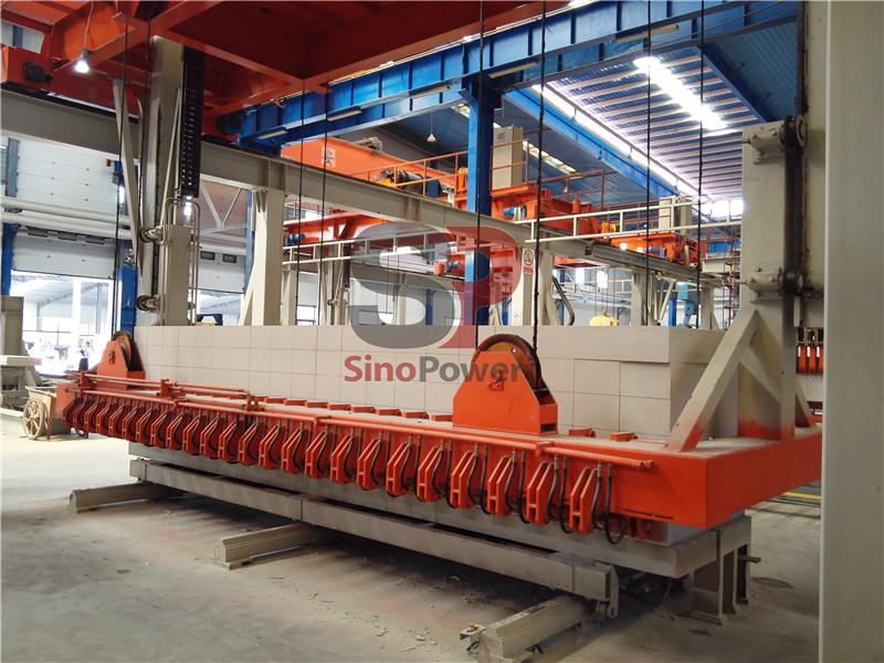 Autoclaved aerated concrete block equipment automatic production line