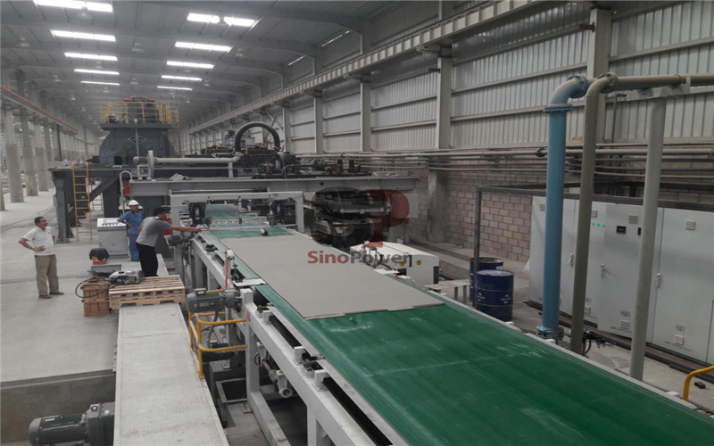 Installation features of fiber cement board and calcium silicate board production line (II)