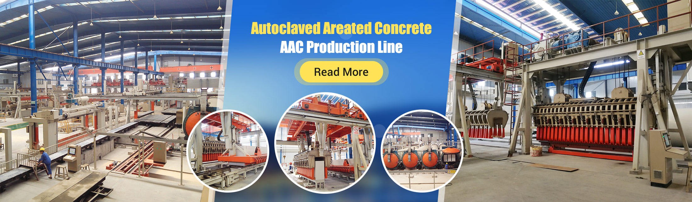 Autoclaved Areated Concrete AAC Production Line Machinery