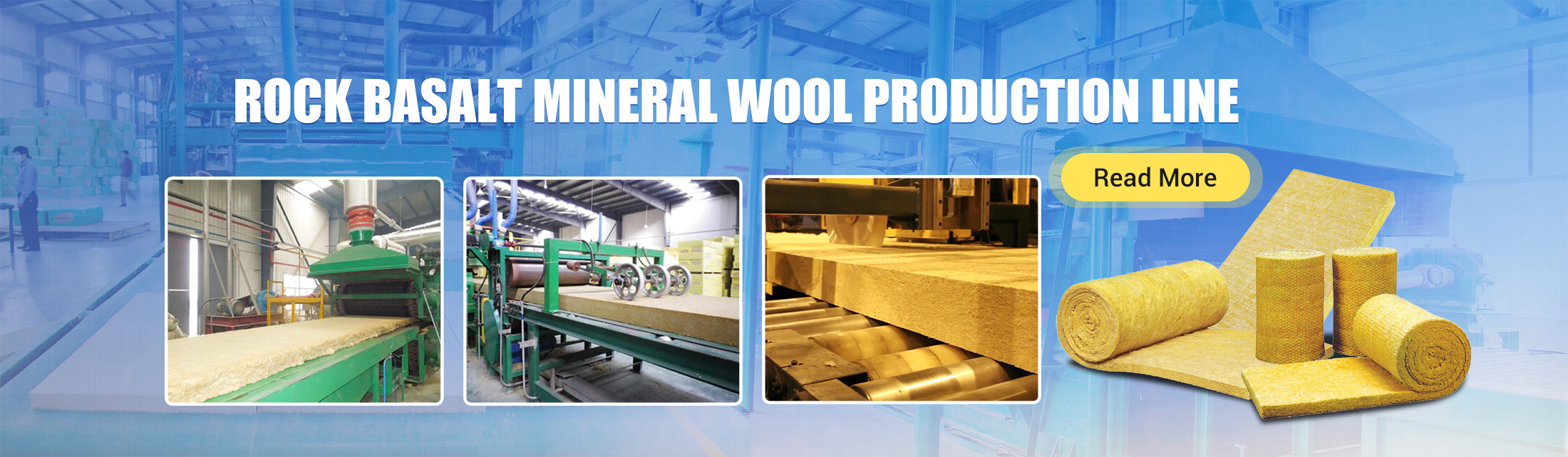 Rock Basalt Mineral Wool Production Line Machinery